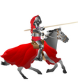 Medieval armored knight armed with pike jousting o vector