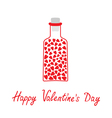 Love bottle with hearts happy valentines day vector