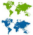 Striped world map vector