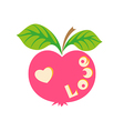 Apple with word love vector