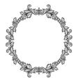 Baroque ornamental antique silver frame on white vector