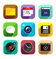 Flat app icons set 4 vector