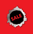 Sale bullet hole vector