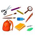 School education items set vector