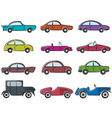 Vintage cars icons vector