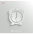 Alarm clock icon - web background vector