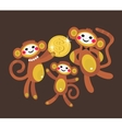 Monkey family with dollar vector