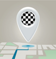 Digital map marchroute finishing point vector
