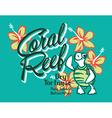 Turtle island coral reef vector