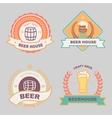 Beer bub bar label design logo vector