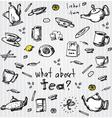 Tea set elements vector