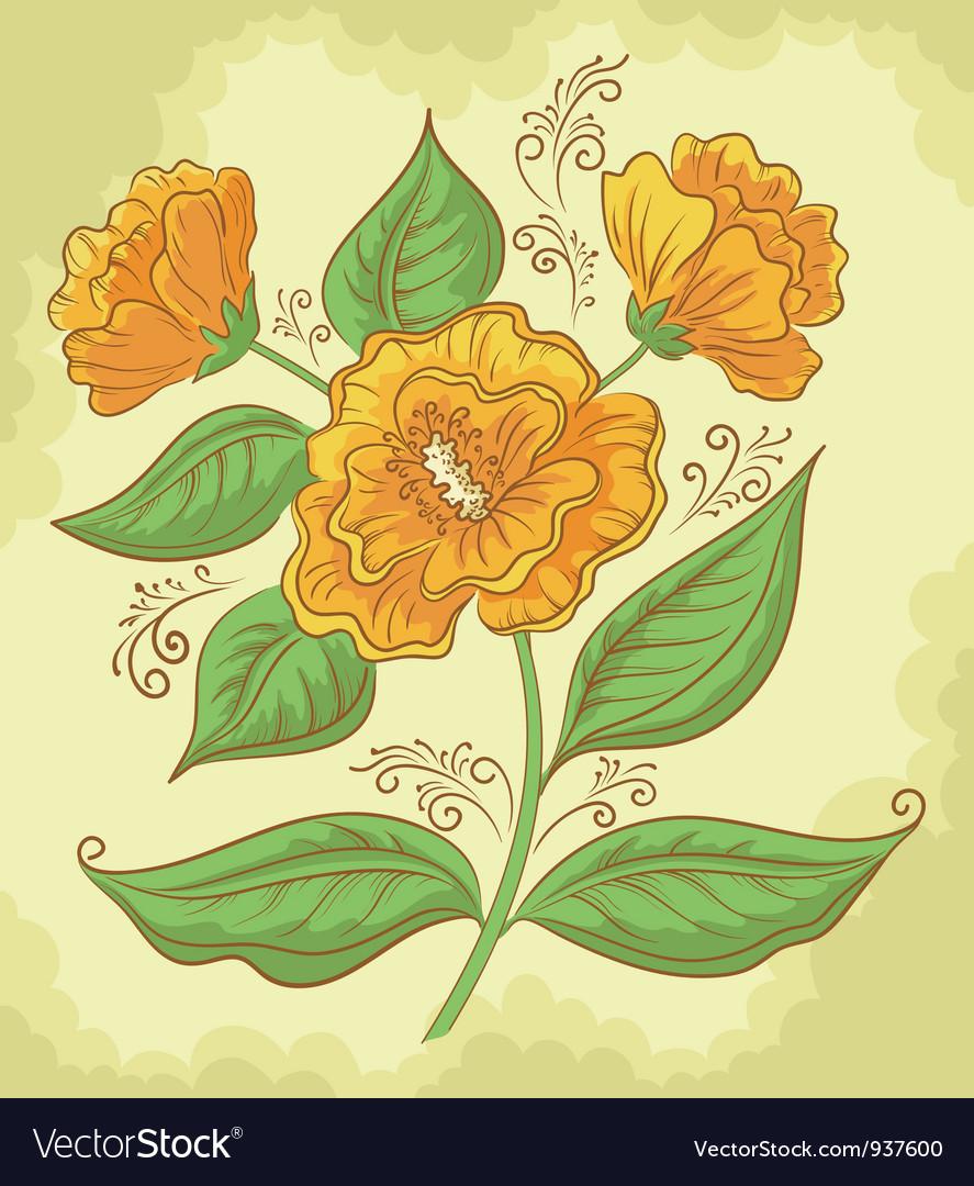 Abstract orange flower vector   Price: 1 Credit (USD $1)