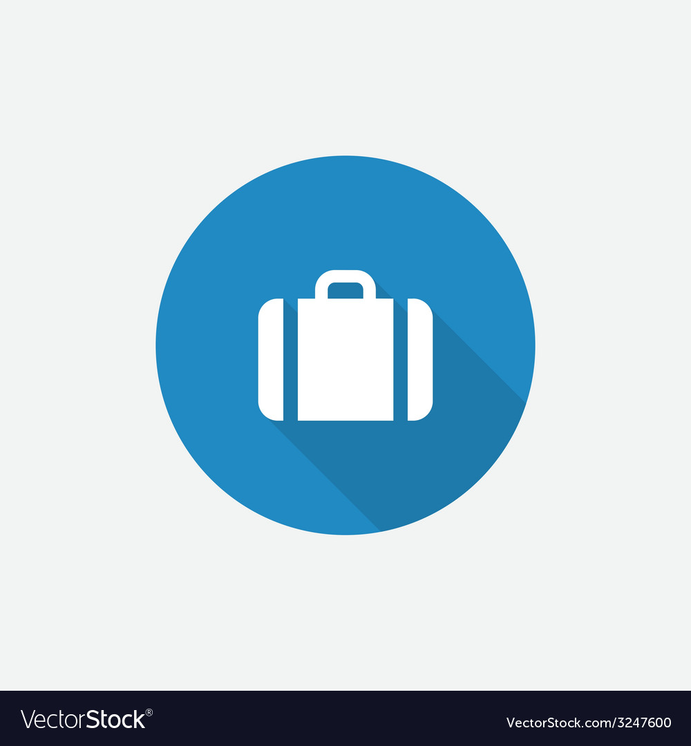 Case flat blue simple icon with long shadow vector | Price: 1 Credit (USD $1)