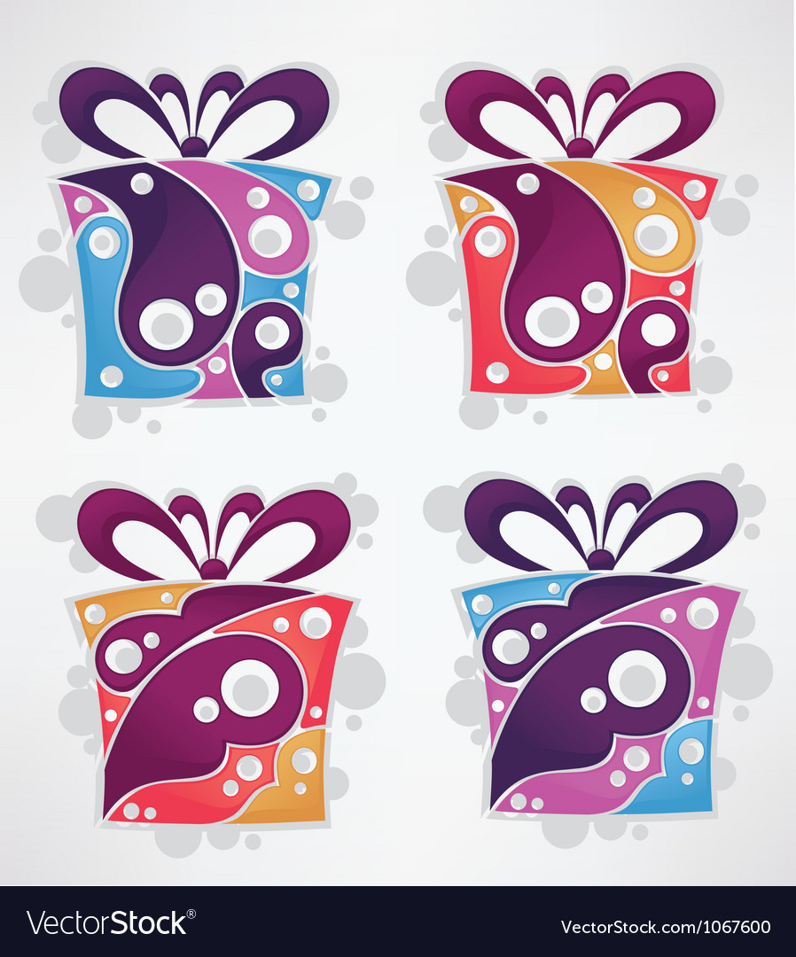 Collection of present and gift boxes vector | Price: 1 Credit (USD $1)