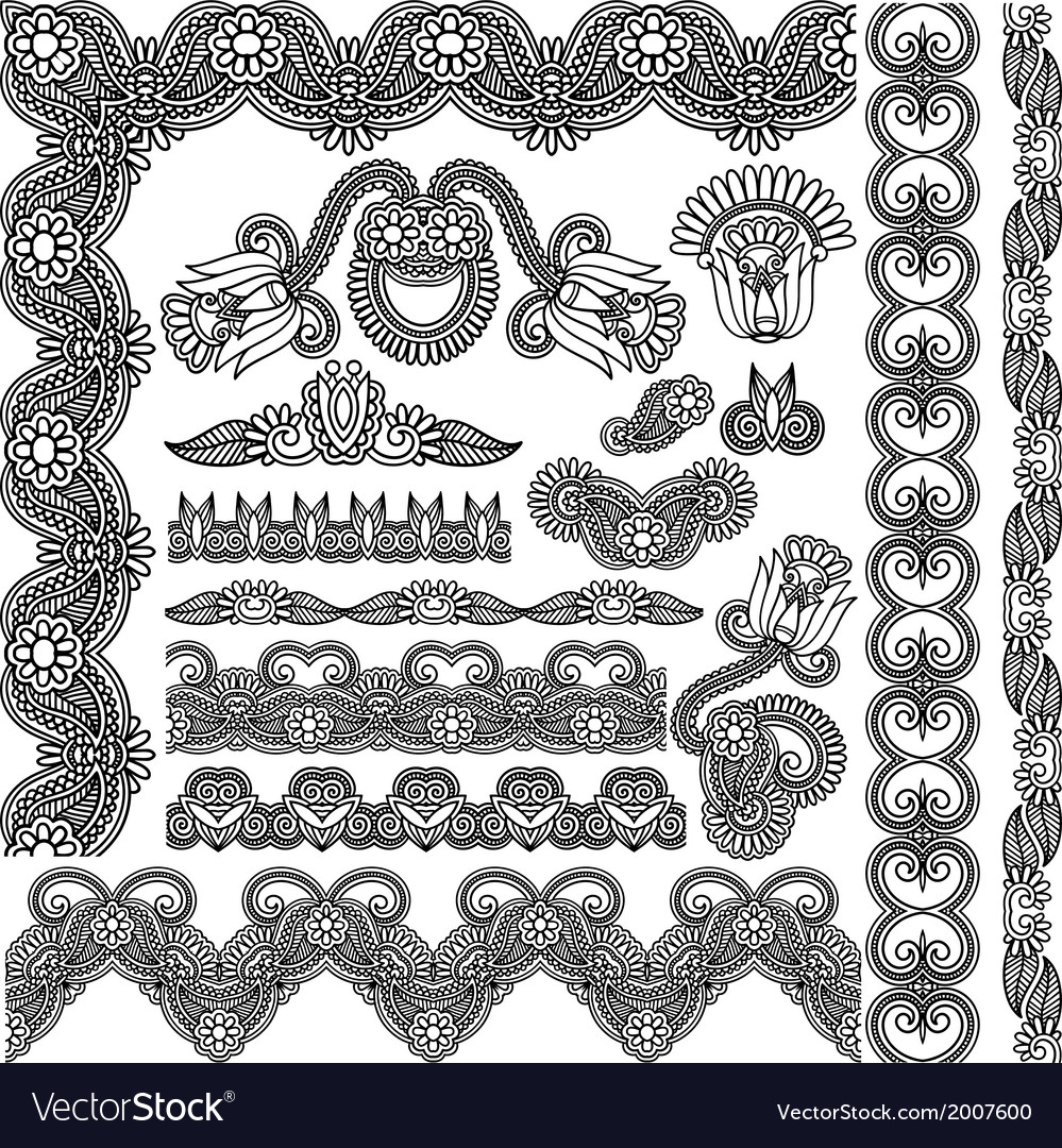 Decoration pattern for your design vector | Price: 1 Credit (USD $1)