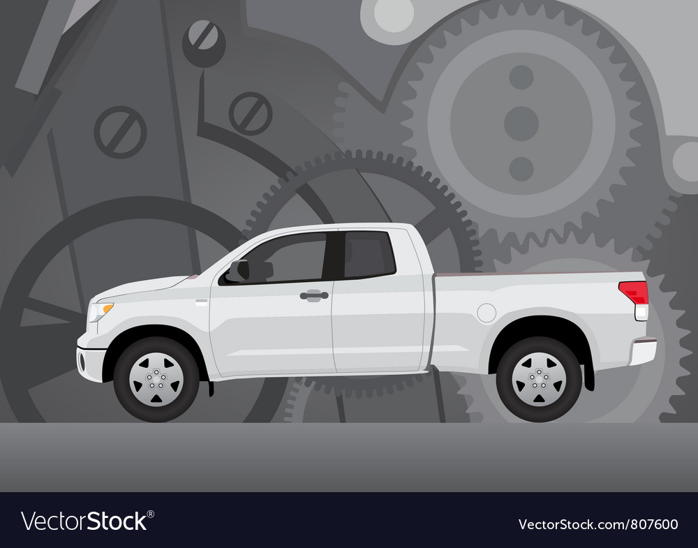 Pick-up truck with background vector | Price: 3 Credit (USD $3)