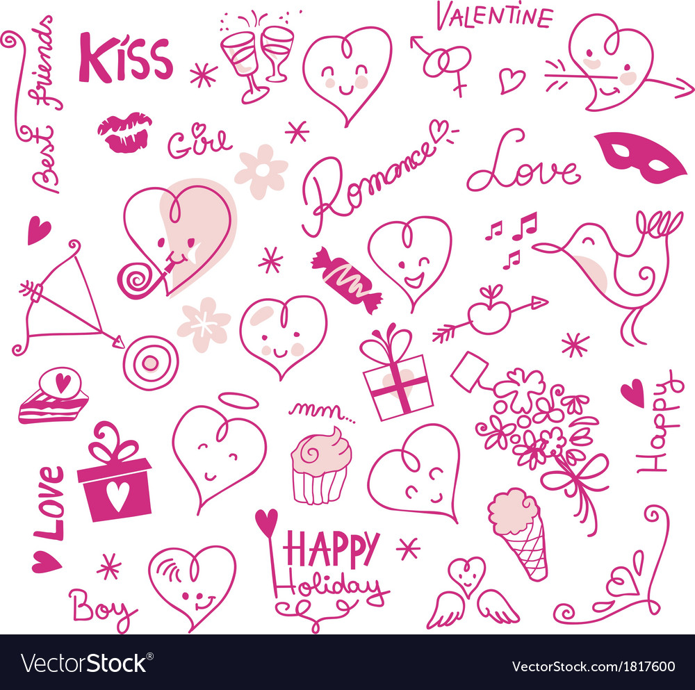 Valentine cute elements vector   Price: 1 Credit (USD $1)