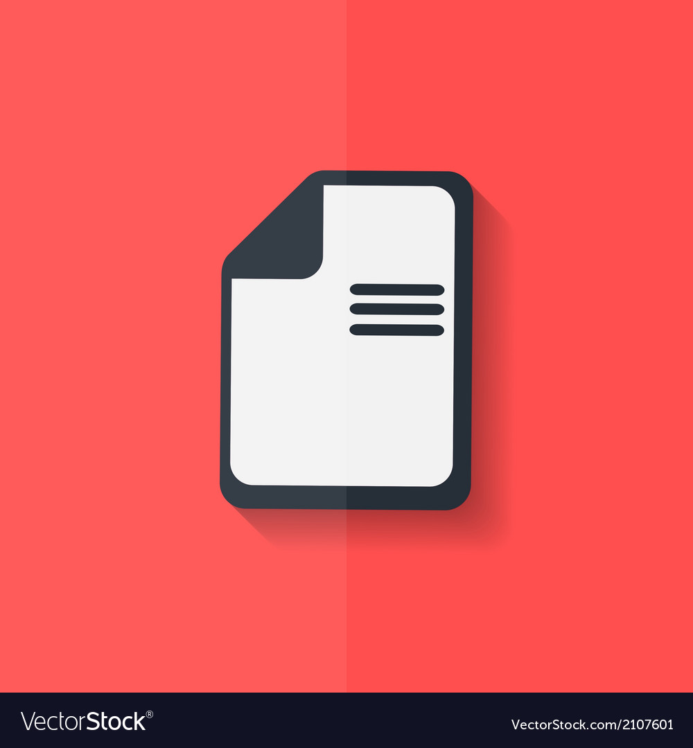 File icon data symbol document format flat design vector | Price: 1 Credit (USD $1)