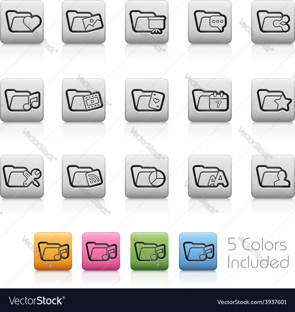 Folders buttons vector | Price: 1 Credit (USD $1)
