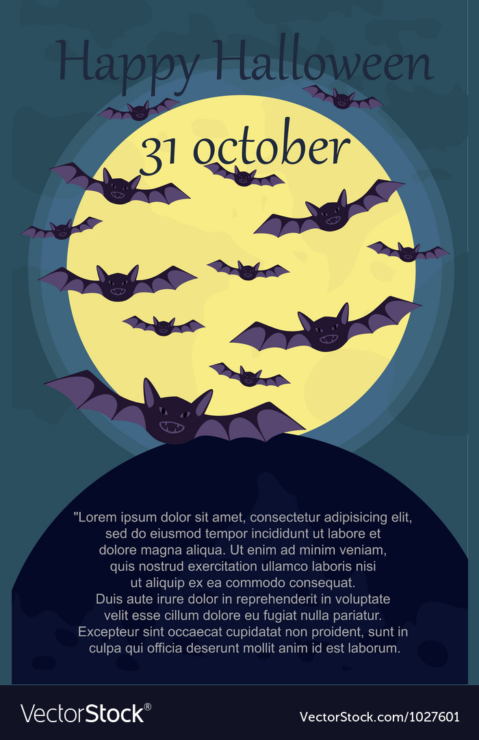 Halloween card with bats vector | Price: 1 Credit (USD $1)