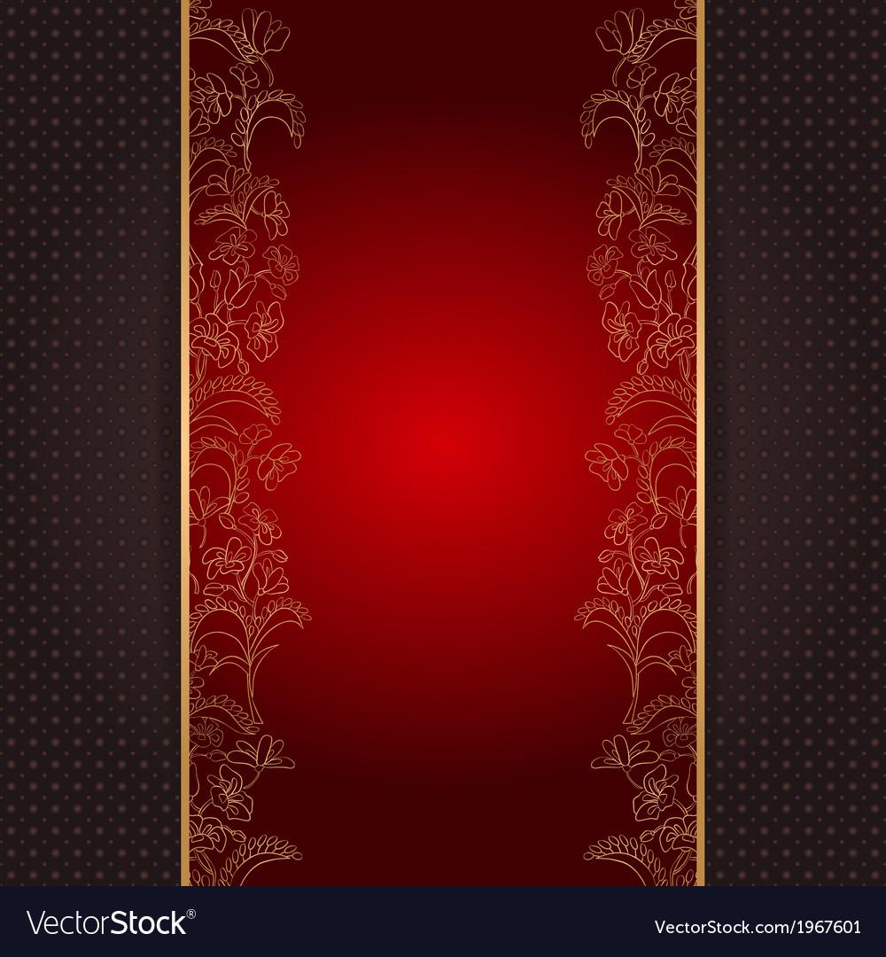 Invitation card vith gold floral ornament vector | Price: 1 Credit (USD $1)
