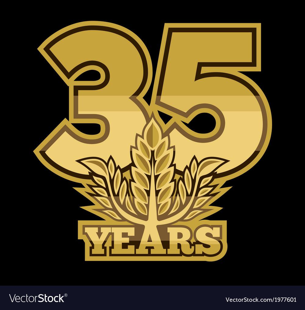 Laurelnew new 35 godina vector   Price: 1 Credit (USD $1)
