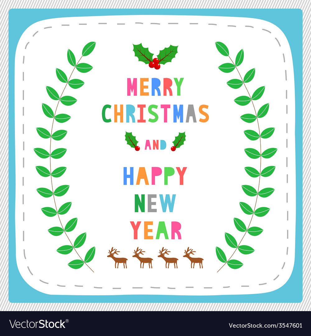 Mc and hny greeting card17 vector | Price: 1 Credit (USD $1)