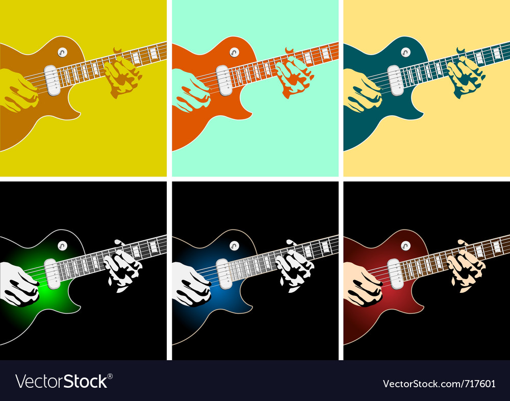 Musical background with guitar player vector | Price: 1 Credit (USD $1)