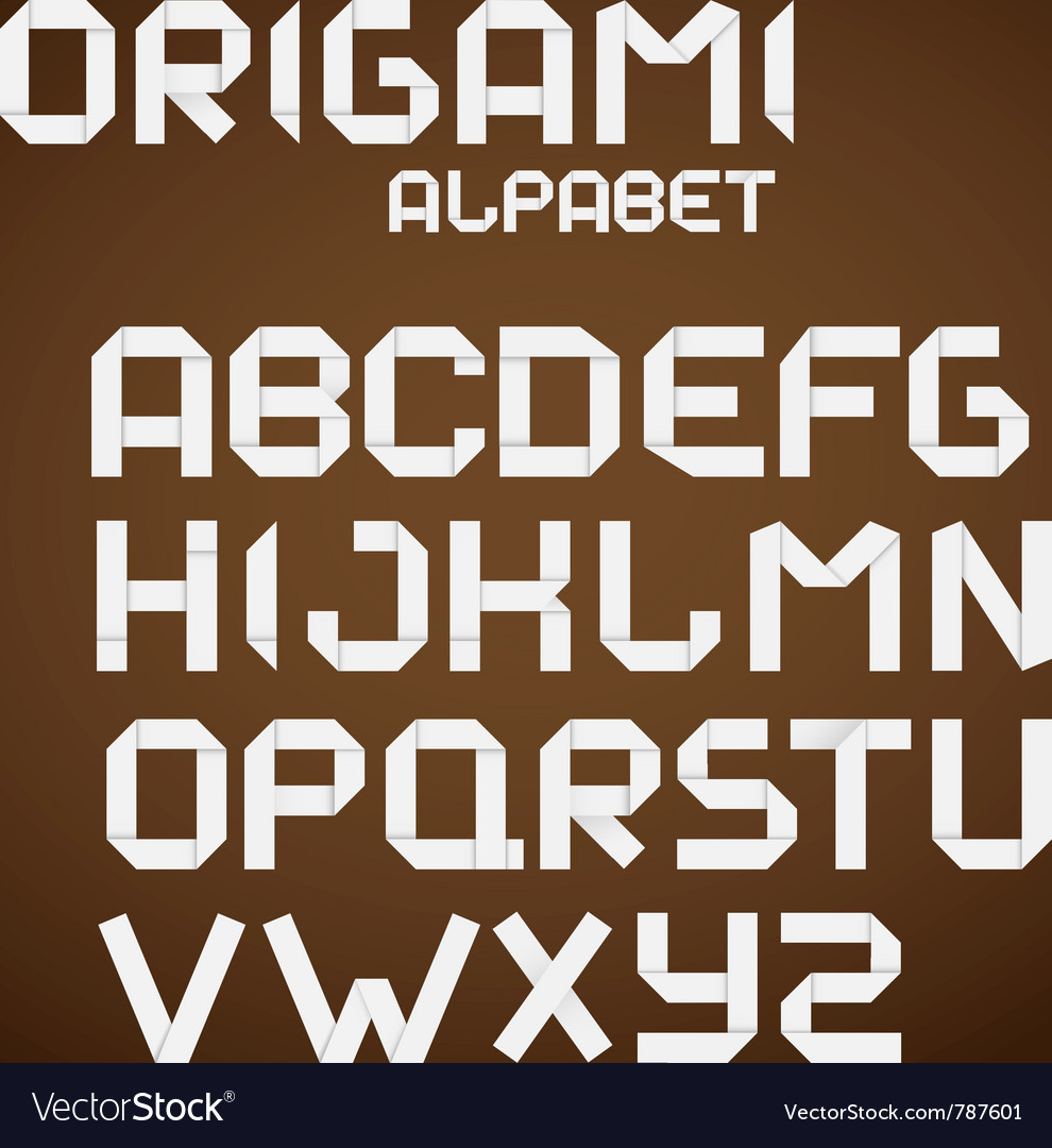 Origami alphabet vector | Price: 1 Credit (USD $1)