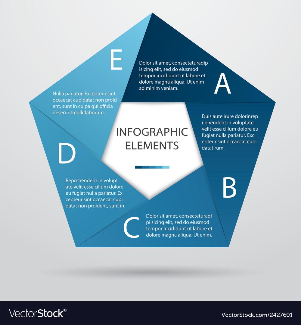 Pentagonal infographic vector | Price: 1 Credit (USD $1)