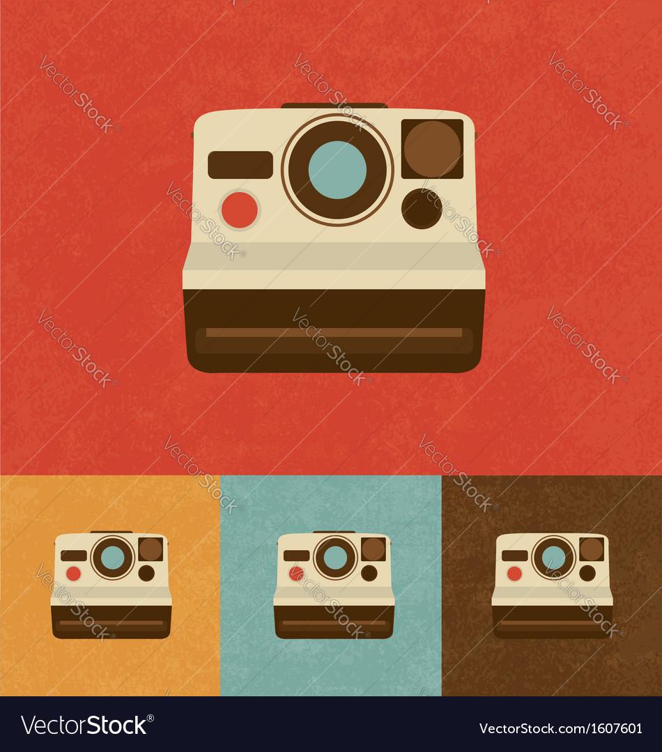 Retro camera icon vector   Price: 1 Credit (USD $1)