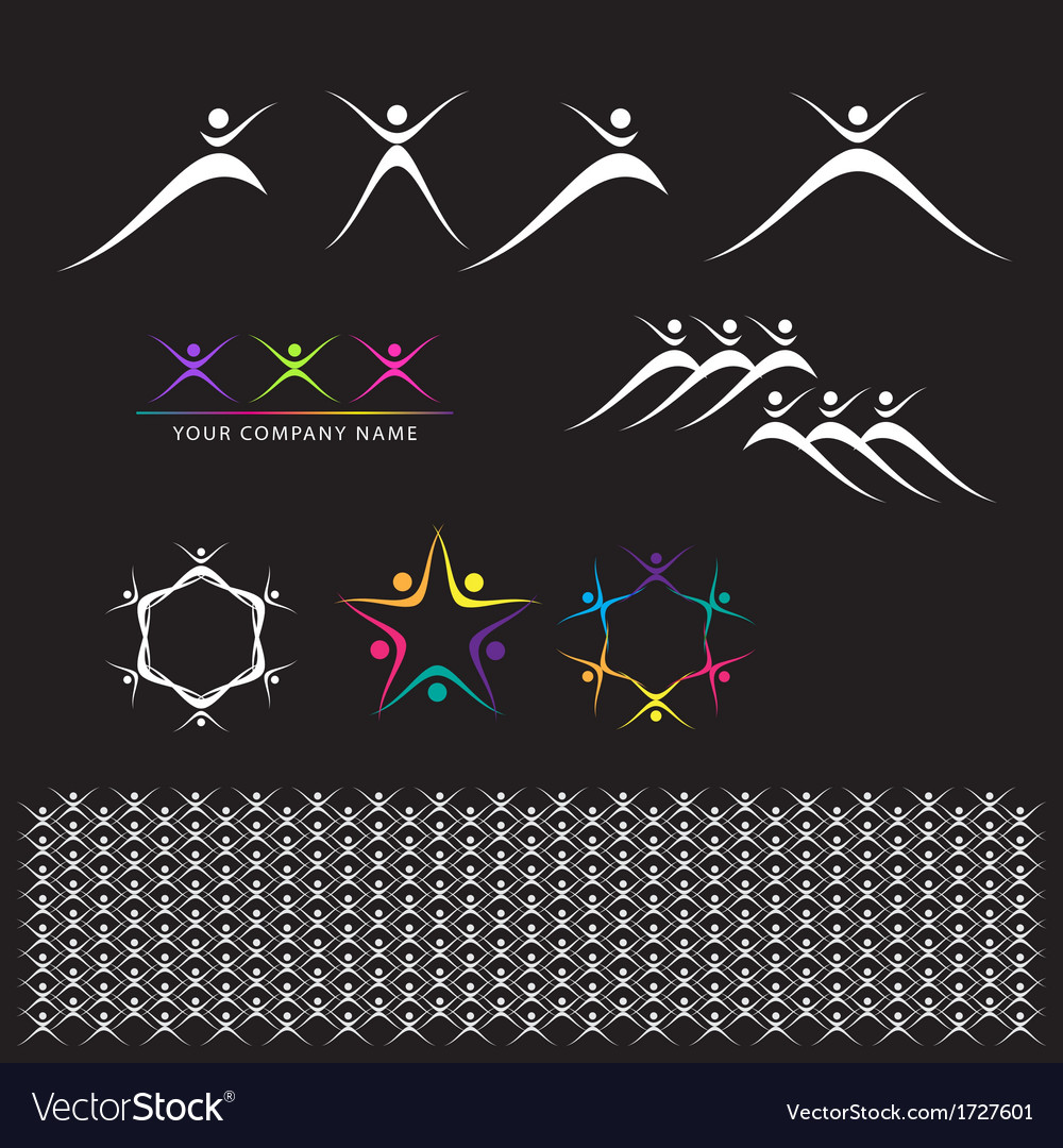 Set of abstract elements vector | Price: 1 Credit (USD $1)