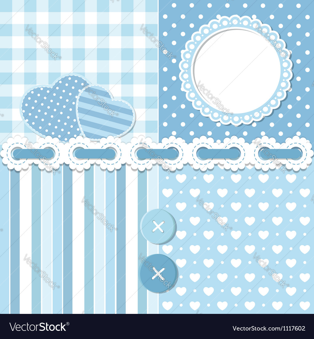 Blue scrapbook set vector | Price:  Credit (USD $)