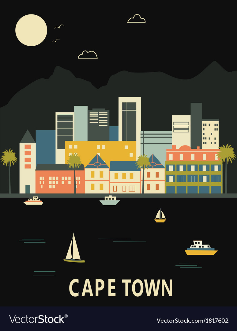 Cape town south africa vector | Price: 1 Credit (USD $1)