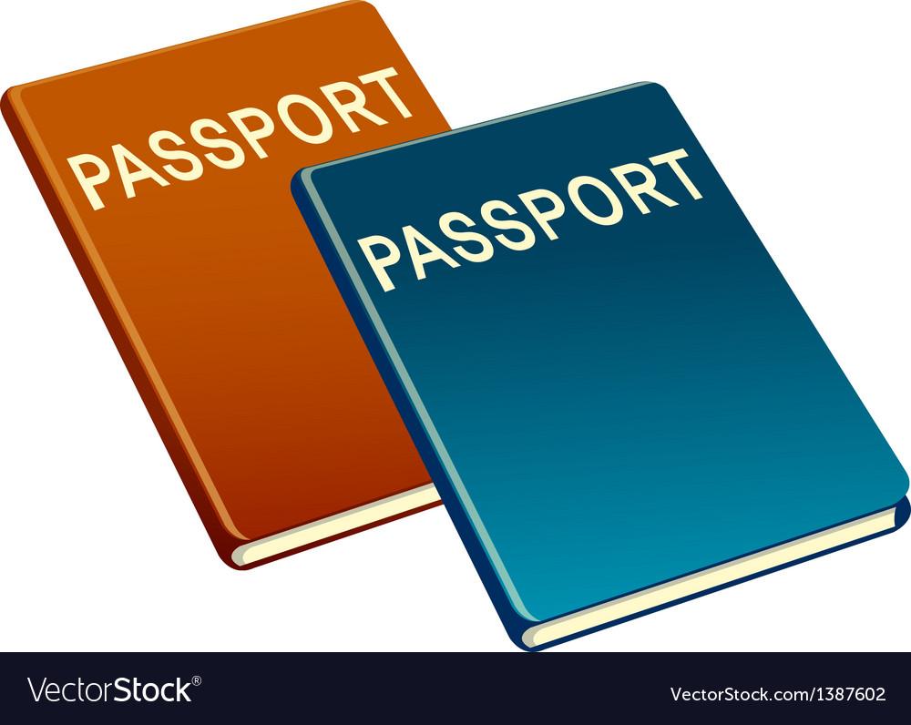 Icon passport vector | Price: 1 Credit (USD $1)