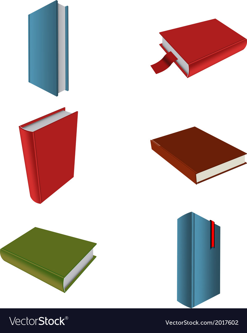Icons of books vector | Price: 1 Credit (USD $1)