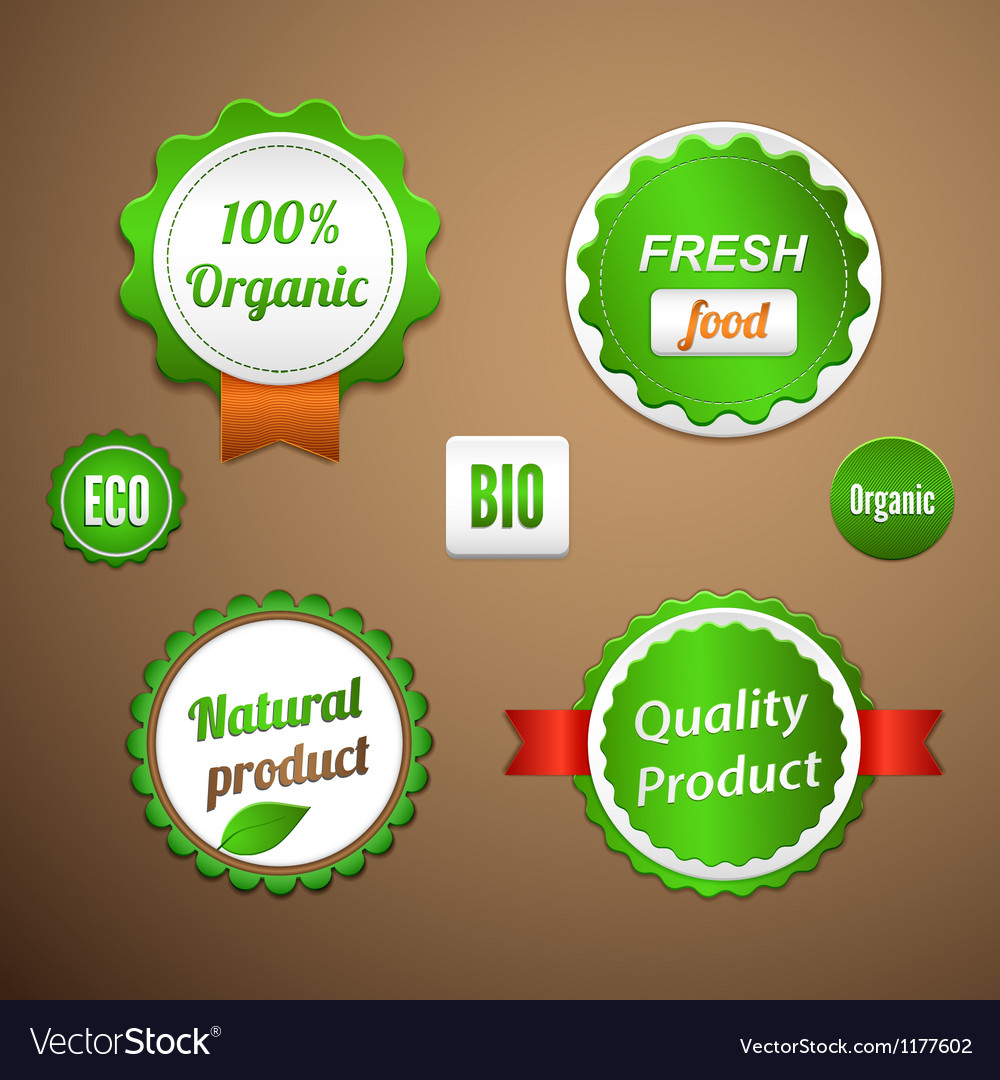 Organic labels logos and stickers vector | Price: 1 Credit (USD $1)