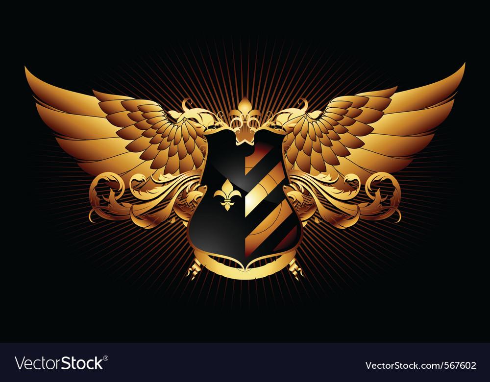 Ornamental shield vector | Price: 3 Credit (USD $3)