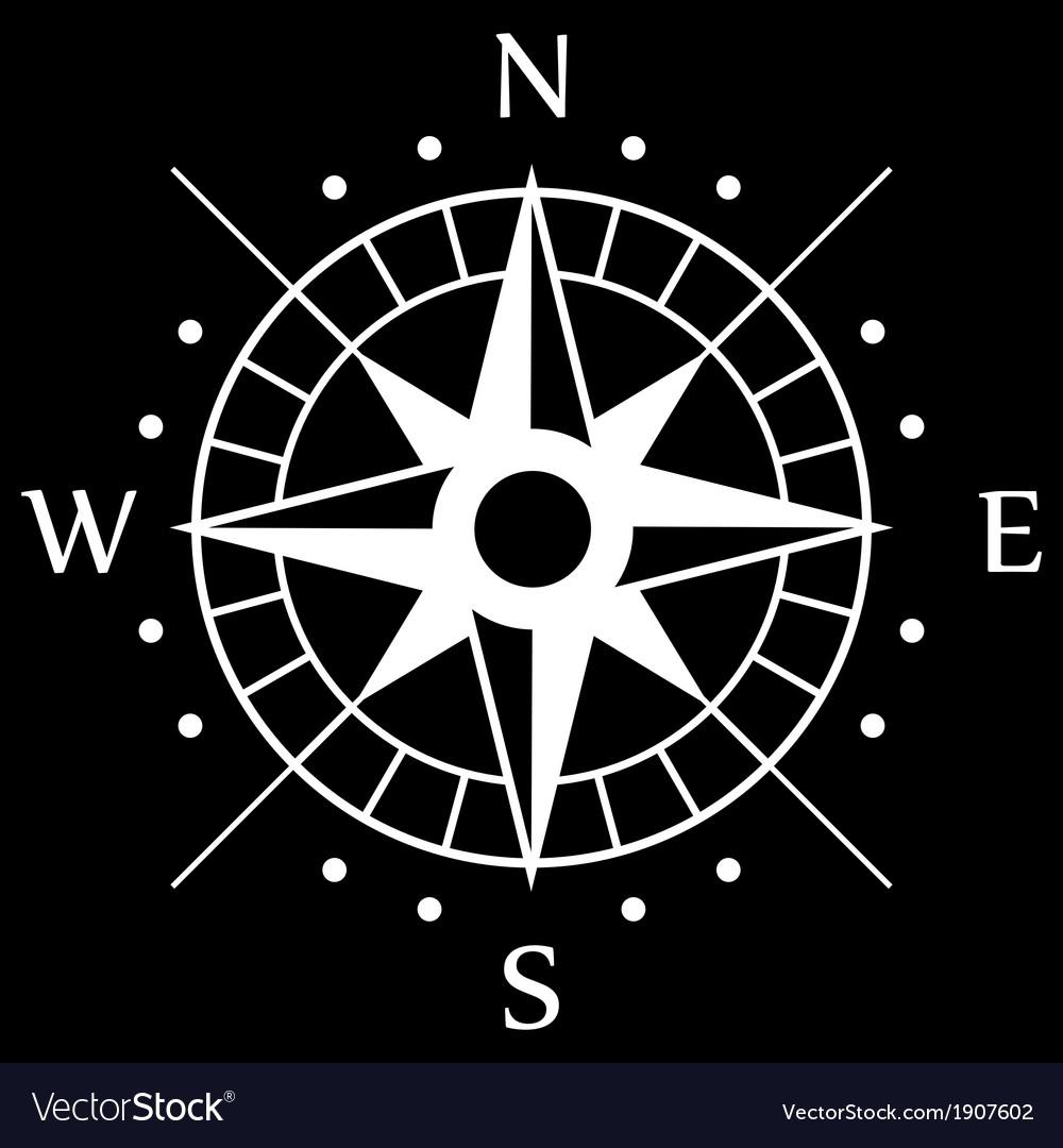 White compass symbol vector   Price: 1 Credit (USD $1)
