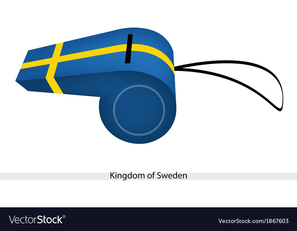 A whistle of the kingdom of sweden vector | Price: 1 Credit (USD $1)