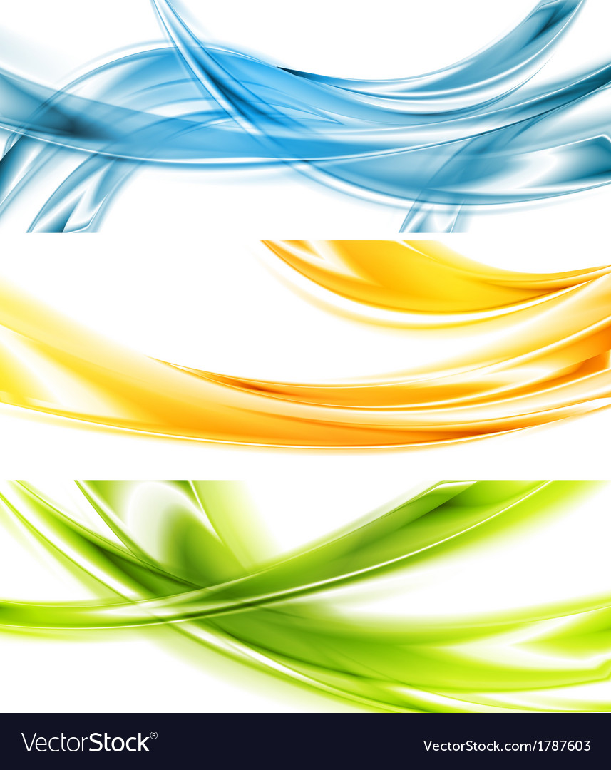 Abstract colorful wavy banners vector | Price: 1 Credit (USD $1)