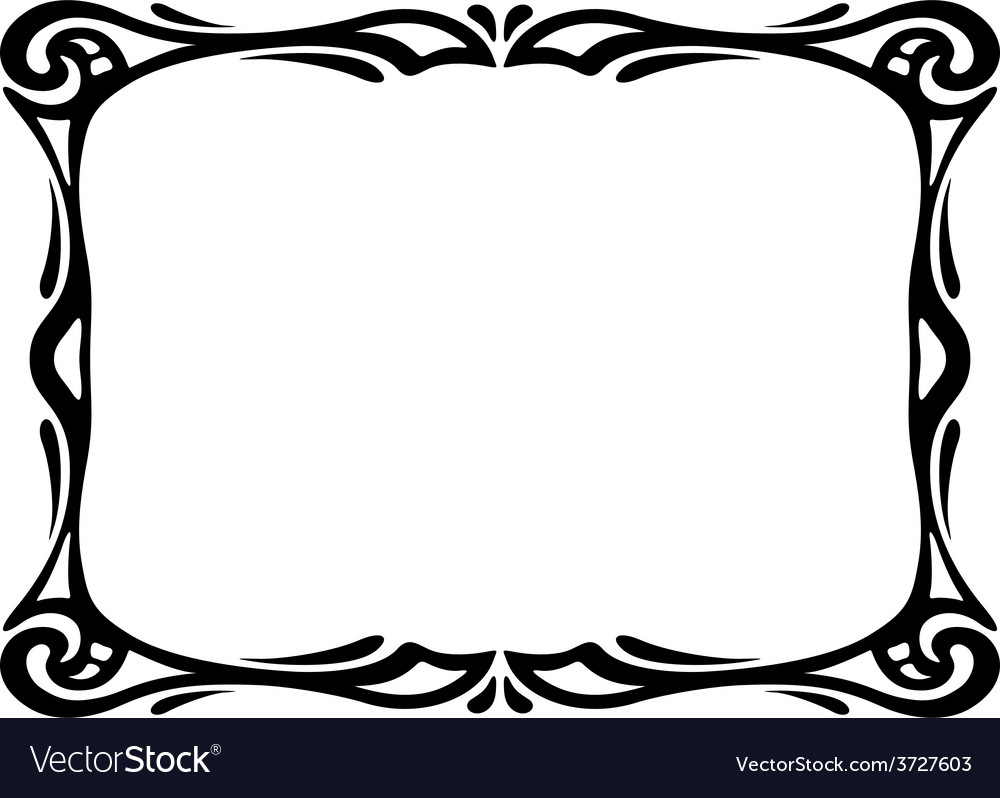 Art nouveau black ornamental decorative frame vector | Price: 1 Credit (USD $1)