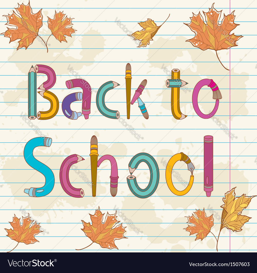 Back to school text vector | Price: 1 Credit (USD $1)
