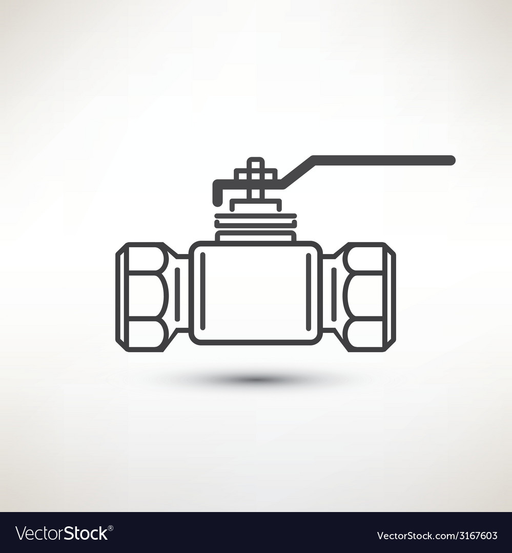 Ball valve symbol vector | Price: 1 Credit (USD $1)