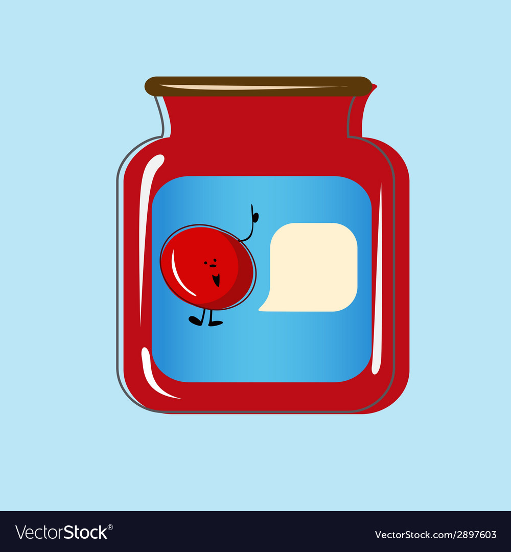 Bank with home canned cherry design vector | Price: 1 Credit (USD $1)