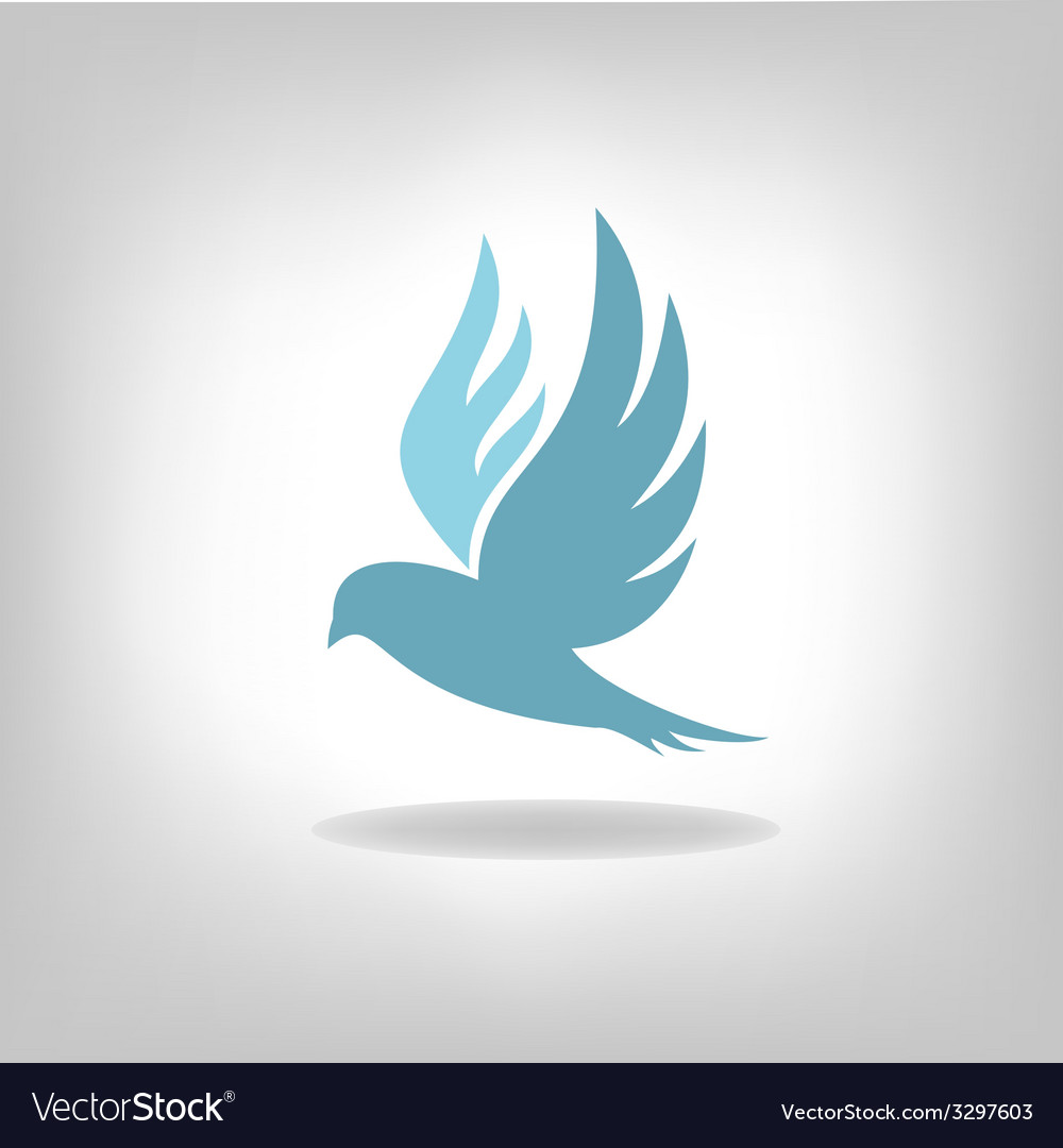 Black bird isolated with expanded wings vector | Price: 1 Credit (USD $1)