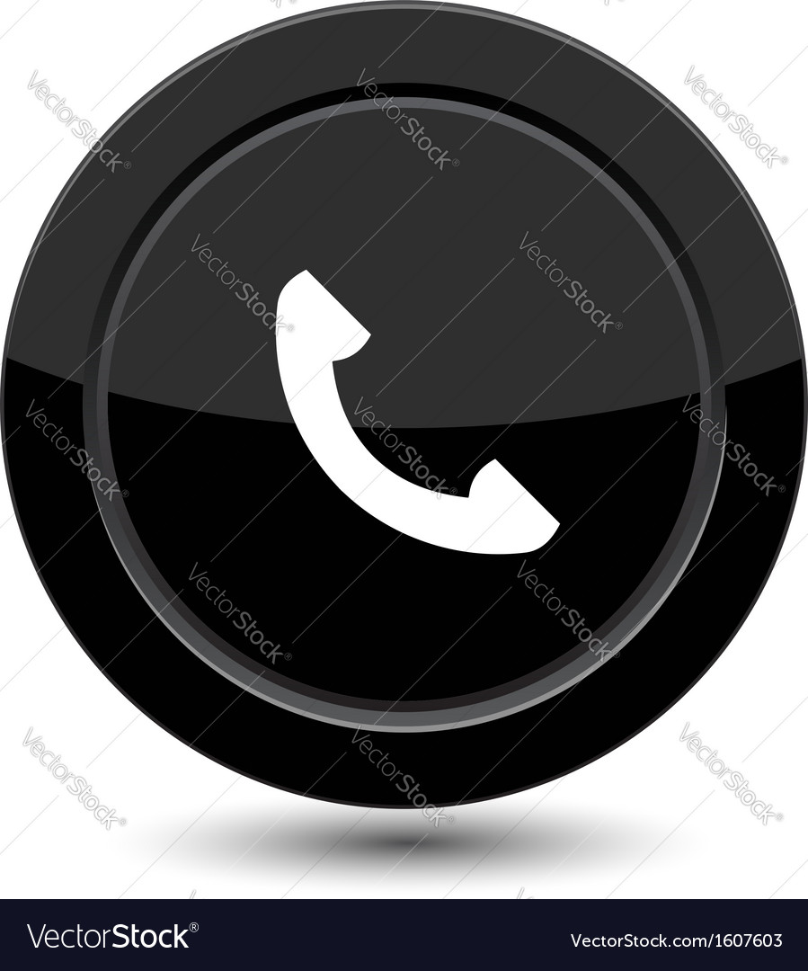 Button with phone vector | Price: 1 Credit (USD $1)