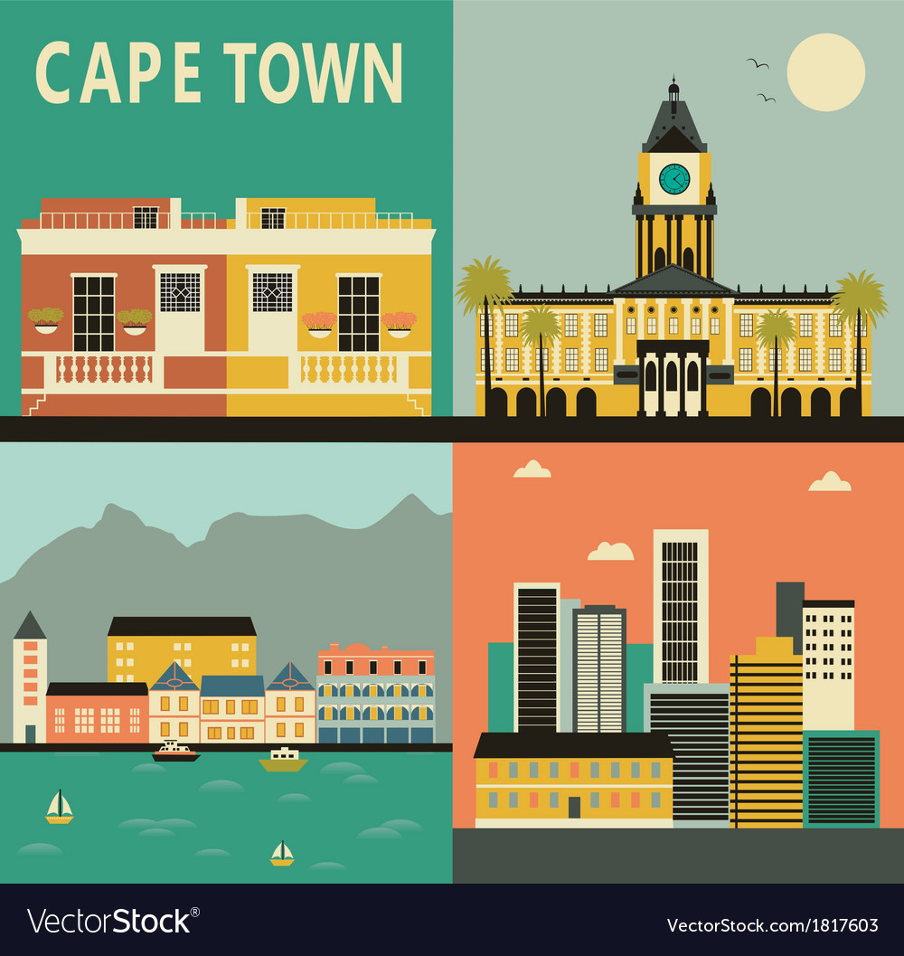 Cape town city vector | Price: 1 Credit (USD $1)