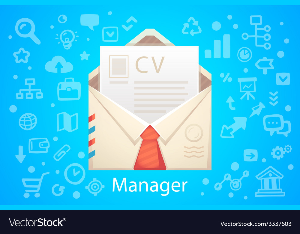 Character envelope office occupation with vector | Price: 1 Credit (USD $1)