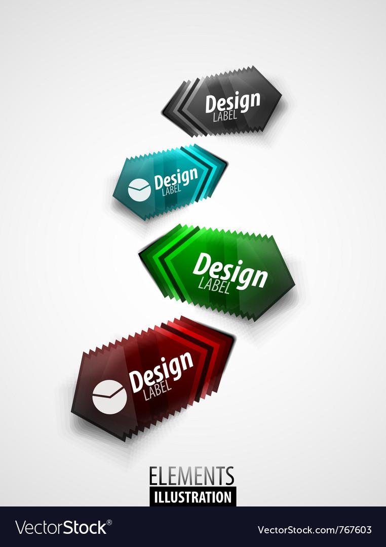 Color arrow labels vector | Price: 1 Credit (USD $1)